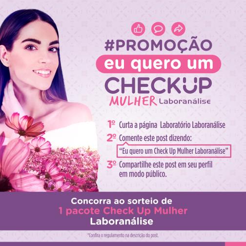Posts_PROMOÇÃO CHECK UP MULHER_Laboranalise SITE